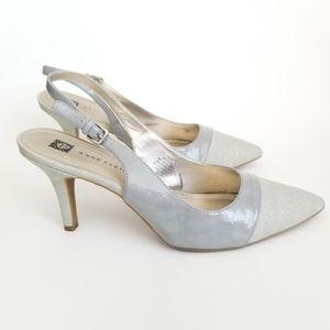 Anne Klein Yarina Slingback Heels, Size 9.5M